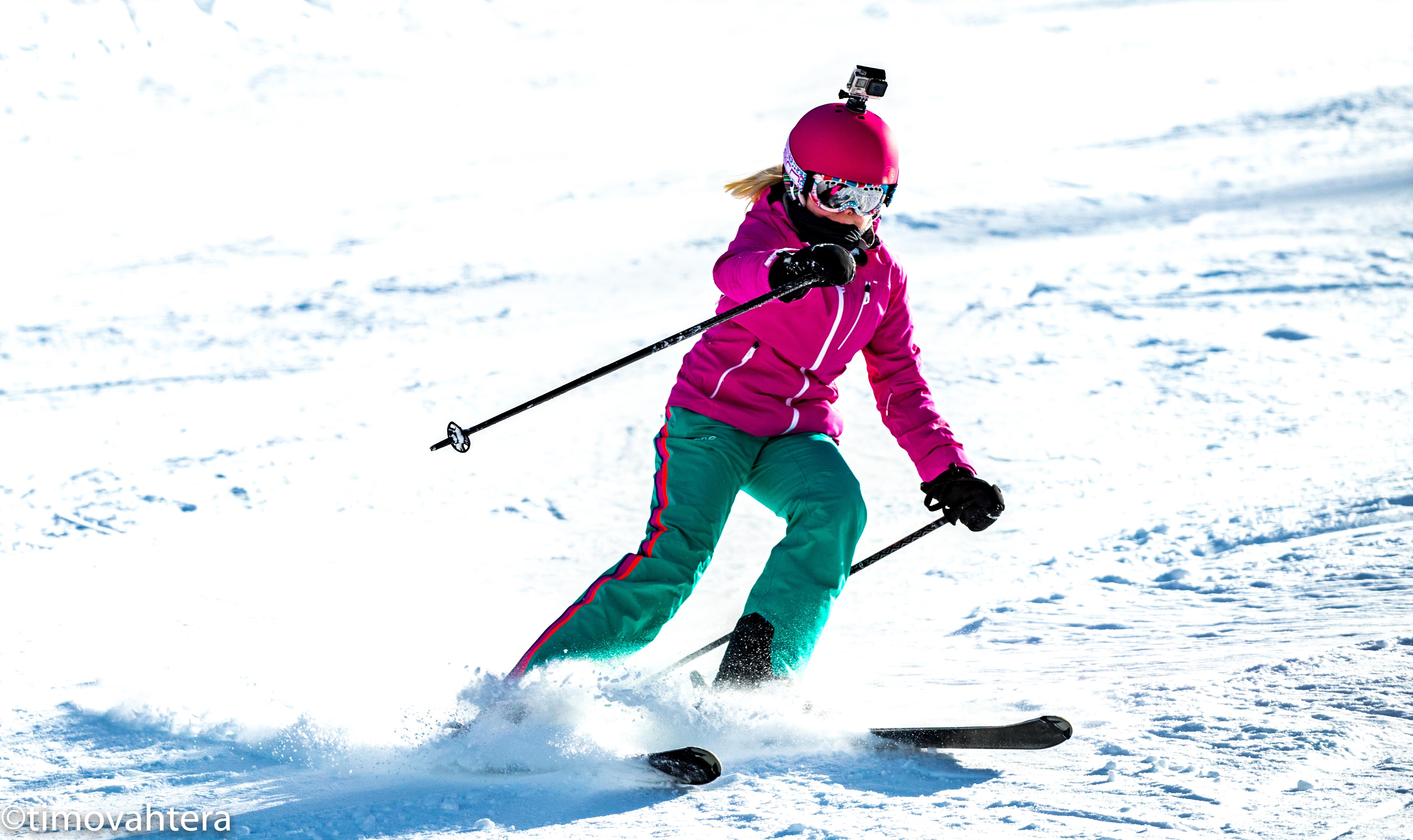 laskettelu slalom urheilukuvaus alpit schladming itävalta gopro