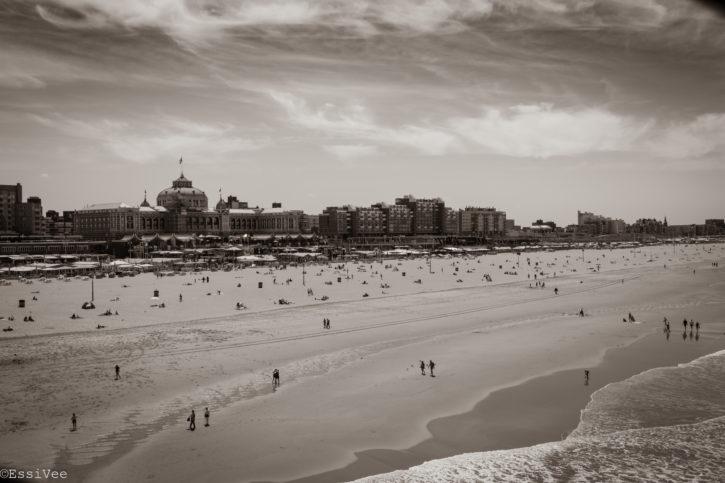 maisema scheveningen grandholtekurhaus denhaag hollanti beachlife