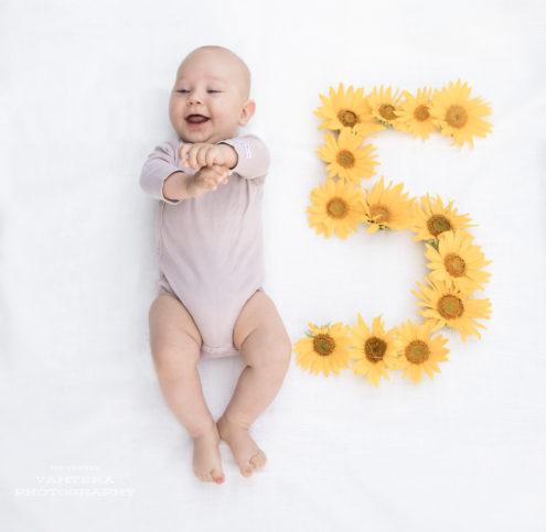 vauvakuvaus 5kk barnfoto auringonkukka lapsikuvaus vauvakuva lapsikuva